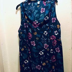 Old Navy Floral Print shift dress SZ 2X